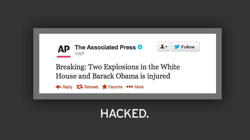 Hacked AP Twitter Account Tweets of 'Explosions in the White House'