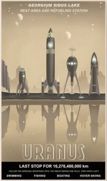 Retro Posters Invite You To Fly The Friendly Skies Of Space