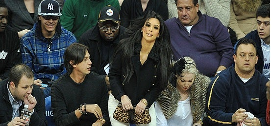 When Kim Kardashian Sits Courtside, Fans Look To The Backside