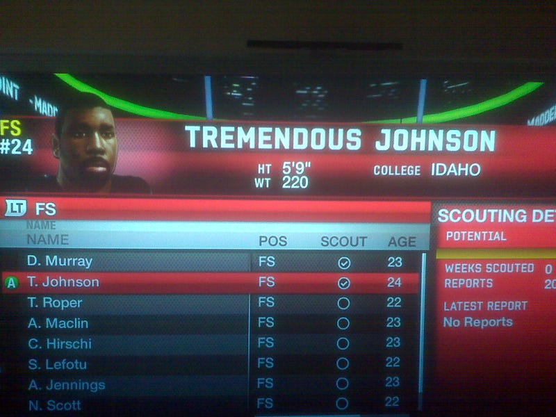Tremendous Johnson's Long Hard Road To Madden