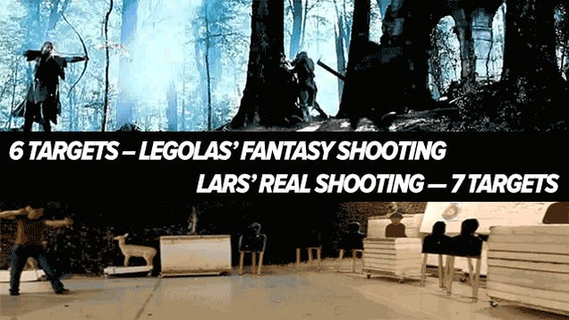 Stunning archer accurately shoots faster than Lord of the Rings' elves