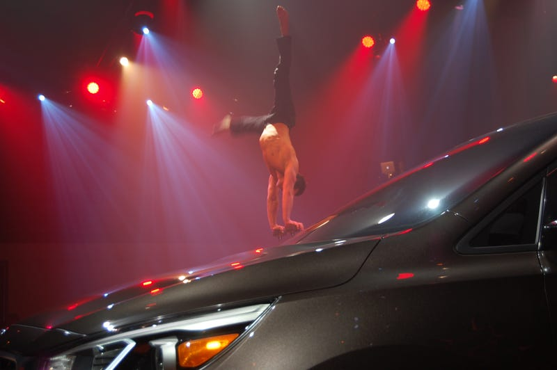 Nothing Sells A Minivan Like Gymnastic Burlesque Dancers And Liquor