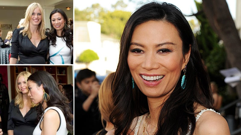 Wendi Deng Murdoch Cozies Up to Her Husband's Enemy