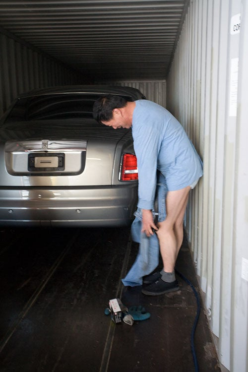 Why Is This Guy Putting His Junk On A Rolls-Royce?