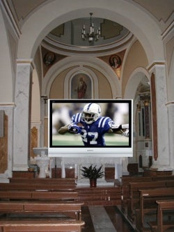 NFL Gets Its Panties in a Bunch Over Jesus and Big TVs