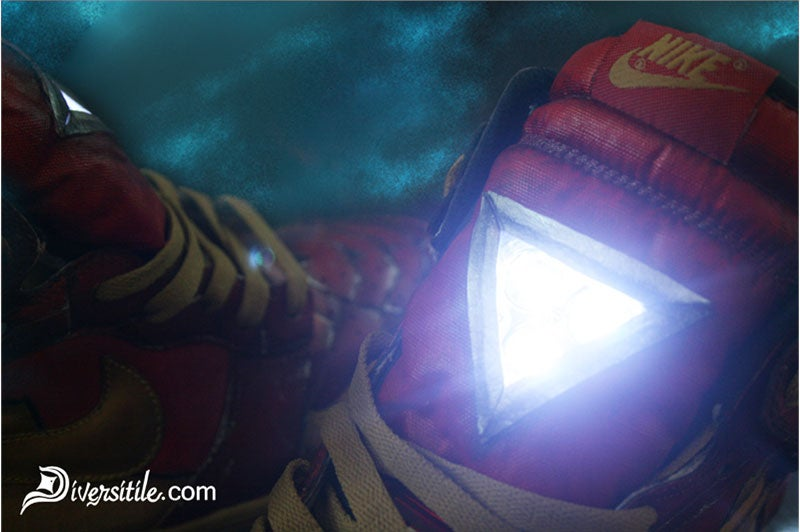 Iron Man Nikes Light Up Like Tony Stark's Arc Reactor