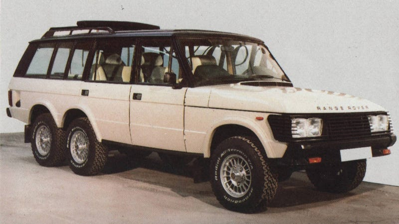 Falconry and '80s excess delivered 6x6 Range Rovers