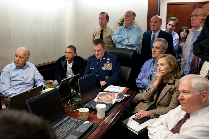 President Obama and Staff Watching Osama bin Laden Mission in Real-Time