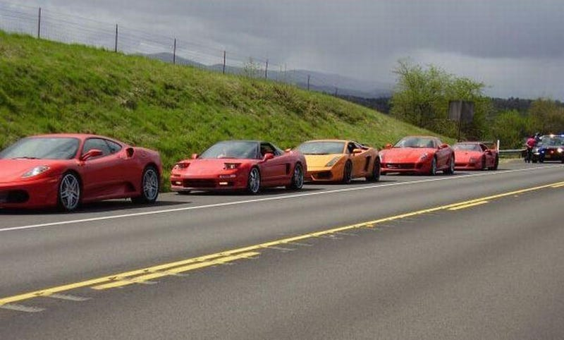 Oregon Trooper Nabs Five Speeding Exotic Cars... At Once!
