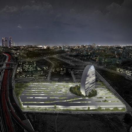 Herzog & de Meuron's Latest Project: Disc Tower in an Arabian Garden in Madrid