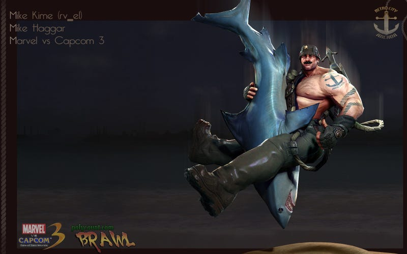 'Brawl' Art Contest Spawns Expertly Redesigned Cammy, Chun-li and Haggar Piledriving a Shark