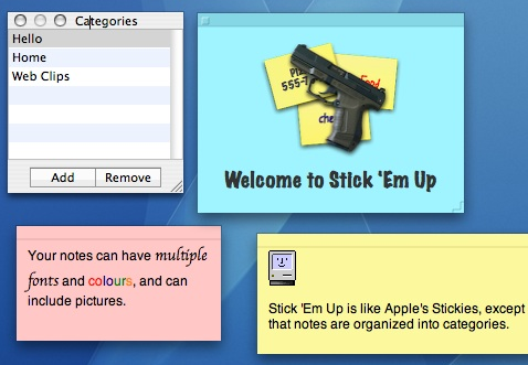 Customize your stickies with Stick 'Em Up