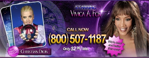 Career Future Cloudy For Vivica A. Fox, New 'Psychic Friends' Spokesperson