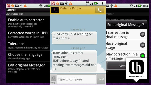 SMS Corrector for Android Translates Text Talk Into Messages You Can Actually Read