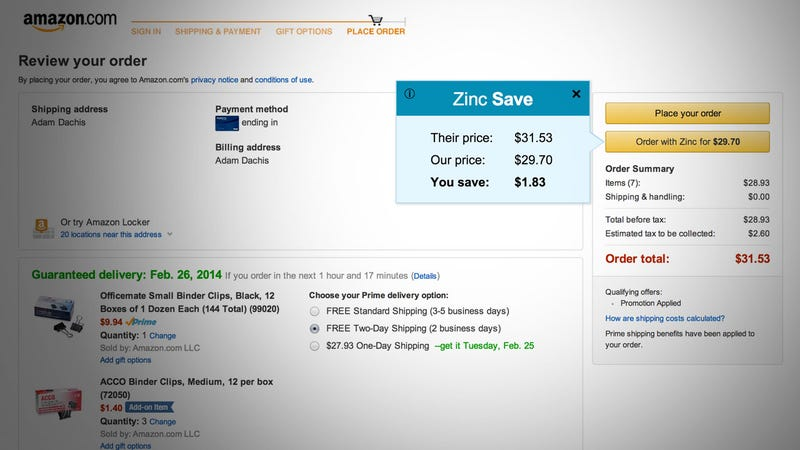 Zinc Skips Coupon Clipping and Automatically Applies Discounts Online