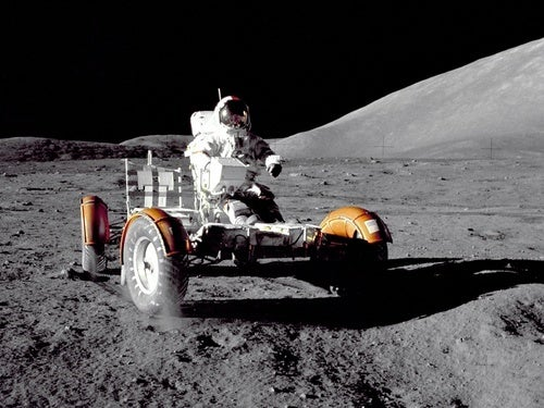 Face to Face With NASA's Lunar Rover Vehicle