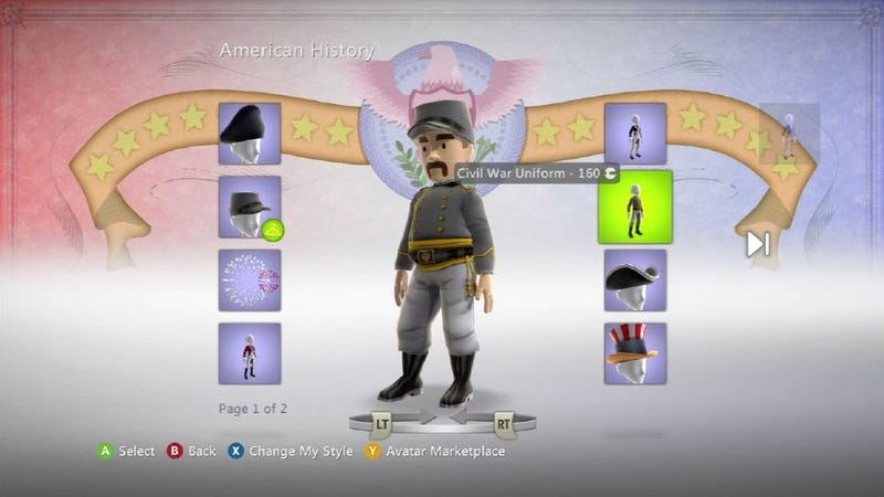 Dress Up Your Xbox Live Avatar Like a Confederate on July 4