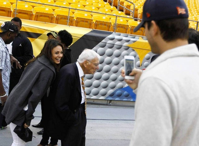 Mila Kunis And Ashton Kutcher Photobomb Steelers Owner Dan Rooney