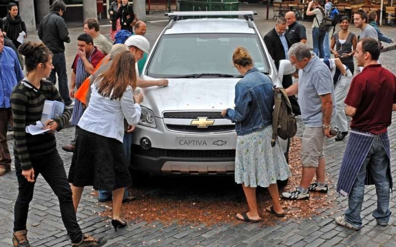 SUV Turned Into Giant Scratch Card