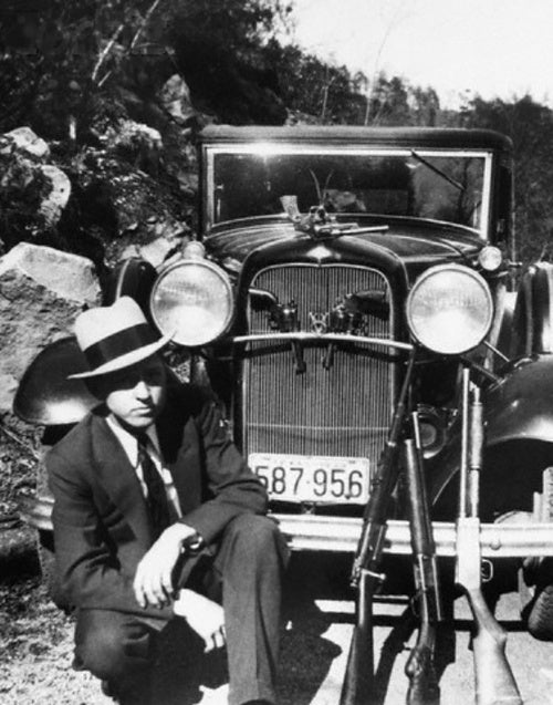 Clyde Barrow and his Ford V8
