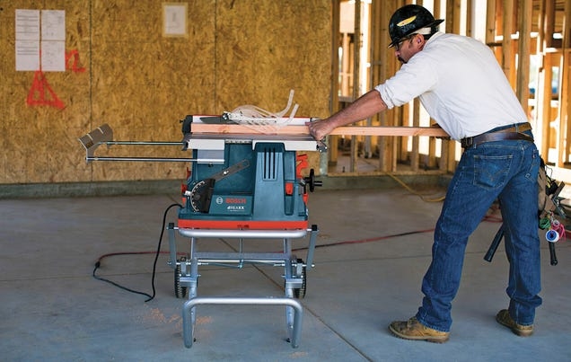 Flesh-Detecting Table Saw Instantly Drops the Blade Without Destroying It