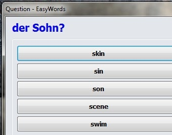 EasyWords Teaches Languages Through Regular System Tray Questions