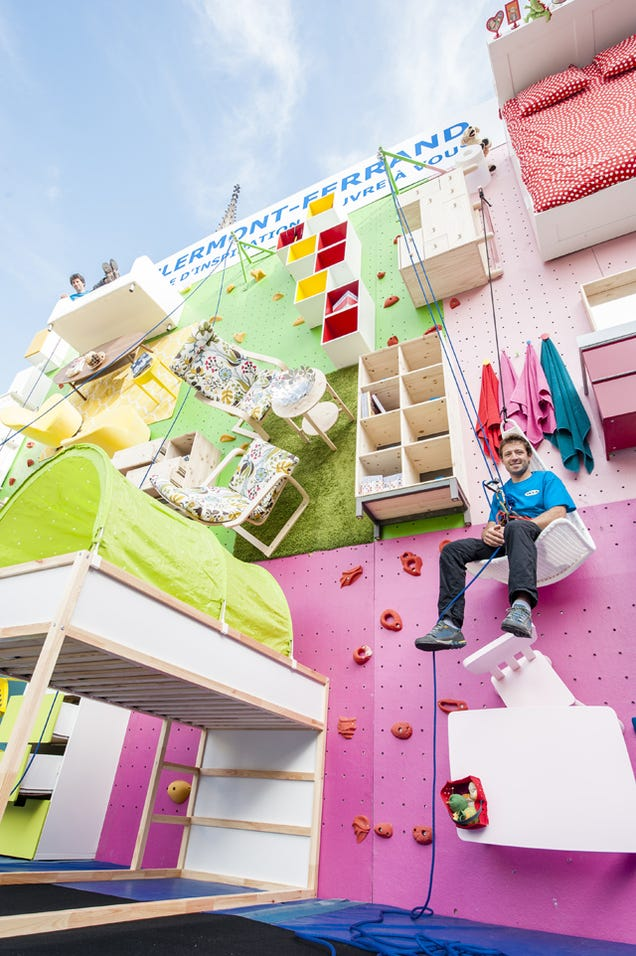 Test Your Endurance on This Ikea Showroom Turned Climbing Wall