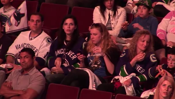 Canucks Fans Get Their Hearts Stomped In Realtime