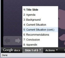 Google Docs Presentations Updates, Improves