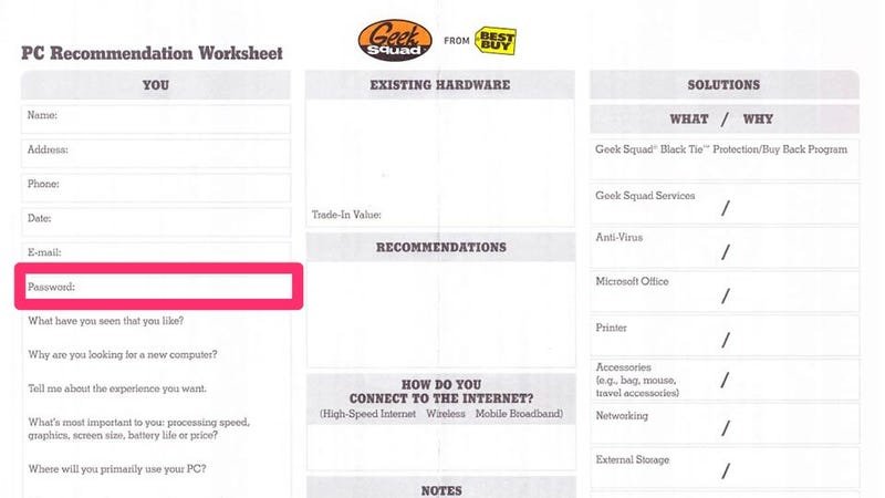 BestBuy's GeekSquad Has the Worst Password Protection You Can Imagine