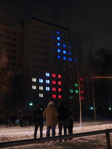 Amazing Finnish Dorm Room Tetris in Video