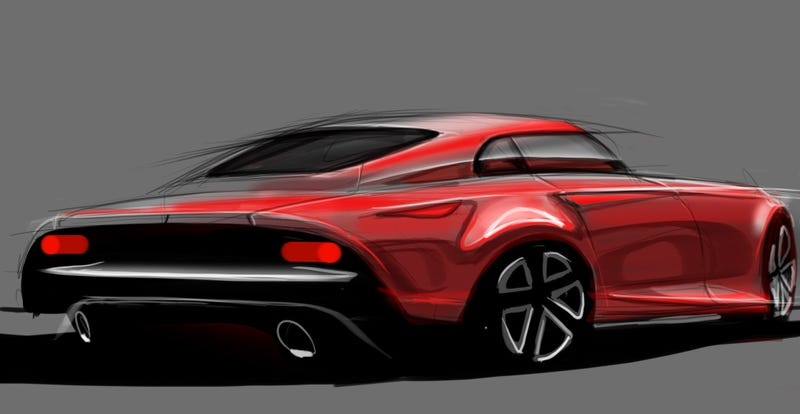 Work didn't get in the way of drawing a car today.