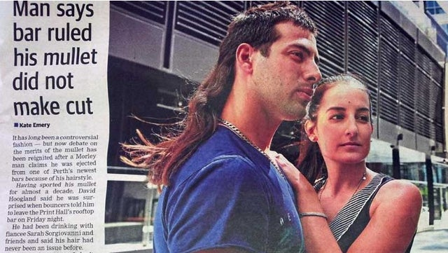 Mullet Gets Man Kicked Out of Australian Bar: They Said 'They Don't Want My Type Here'