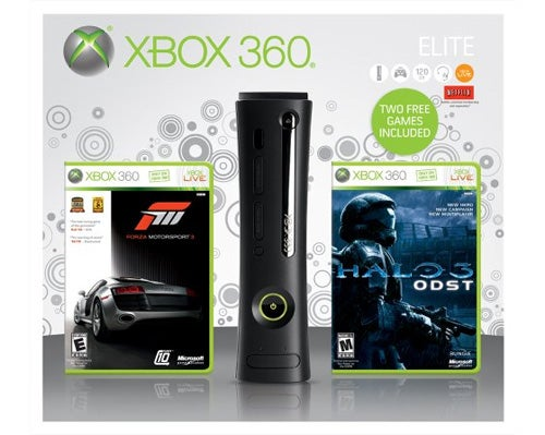 Xbox 360 Elite Bundle Packs In Forza III, Halo 3: ODST
