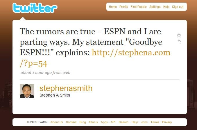 It's Not Official Until Stephen A. Tweets It