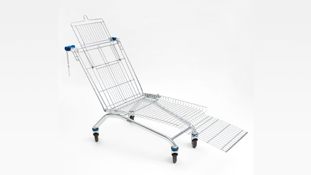 First Shop, Then Drop...Into This Shopping Cart Lounger
