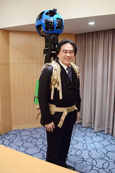 Ever Wonder What Nintendo's President Looks Like As A Walking Google Camera?