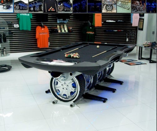 Automotive Pool Table Would Make For An Interesting Driving Experience