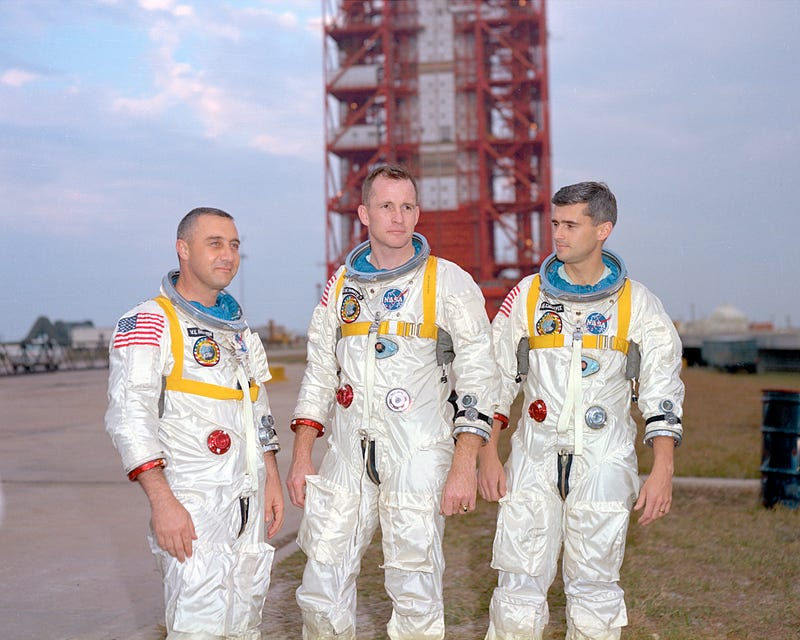 """""""Fire, we've got a fire in here."""" - Apollo 1"""