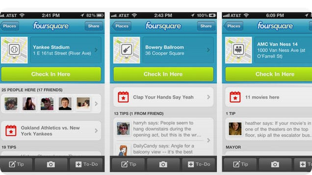 Foursquare Now Lets You Check-In To An Event