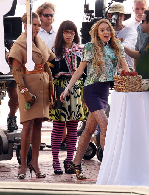 America & Lindsay: Ugly Betty & Balenciaga