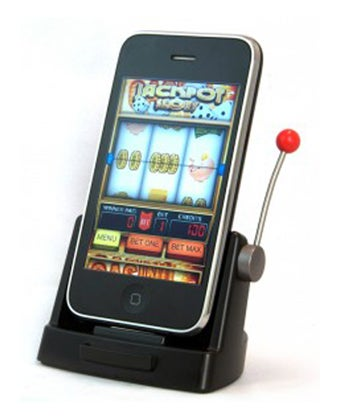 Slot Machine iPhone Dock: Proportionally Less Depressing Than Real Thing