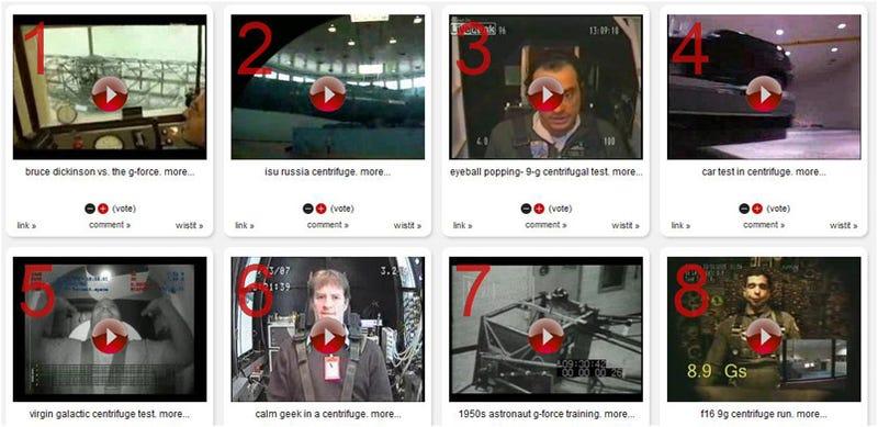 12 Centrifuge Test Videos: Man vs. G-Force