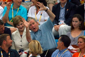 Bush Looking Drunk At The Olympics