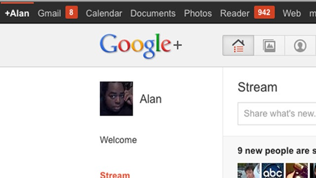 Google+ Enhancer Adds Unread Item Counts for Gmail, Reader, and Calendar to Google+