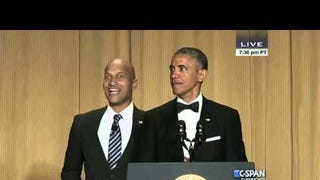 Keegan-Michael Key Swipes at the Media as Obama's Unbridled Id