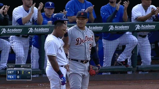 Adrian Beltre Gets 2,500th Hit, Unwanted Head Touching