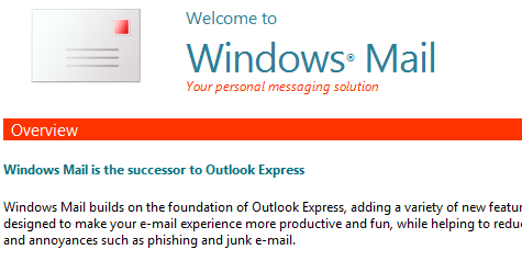 Screenshot Tour: Windows Vista Mail
