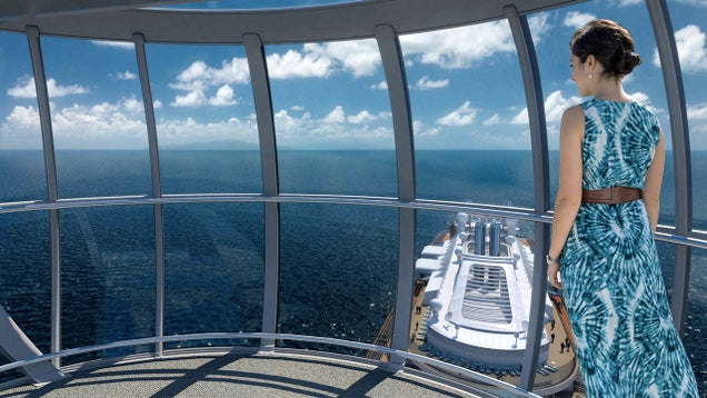 Royal Caribbean's New Ship Hangs You 300 Feet Above the Deck In a Crane