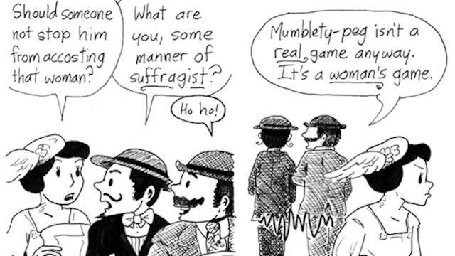 Terrible 'Girl Gamer' Sexism, Imagined As Even Worse 1900s Sexism